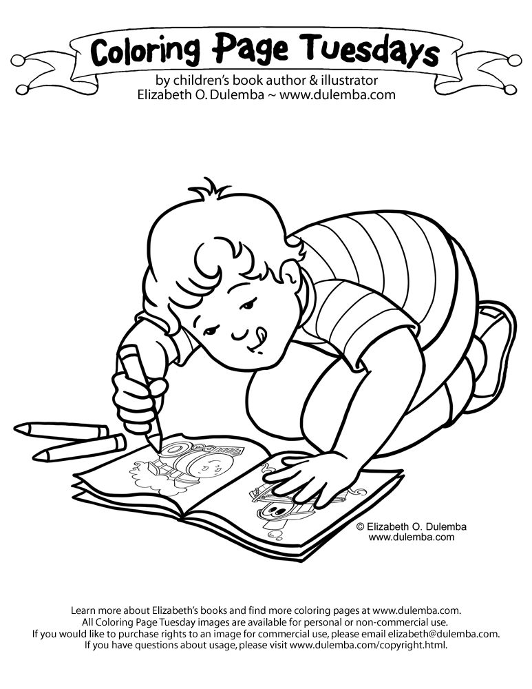 Coloring Page Tuesday - Color!