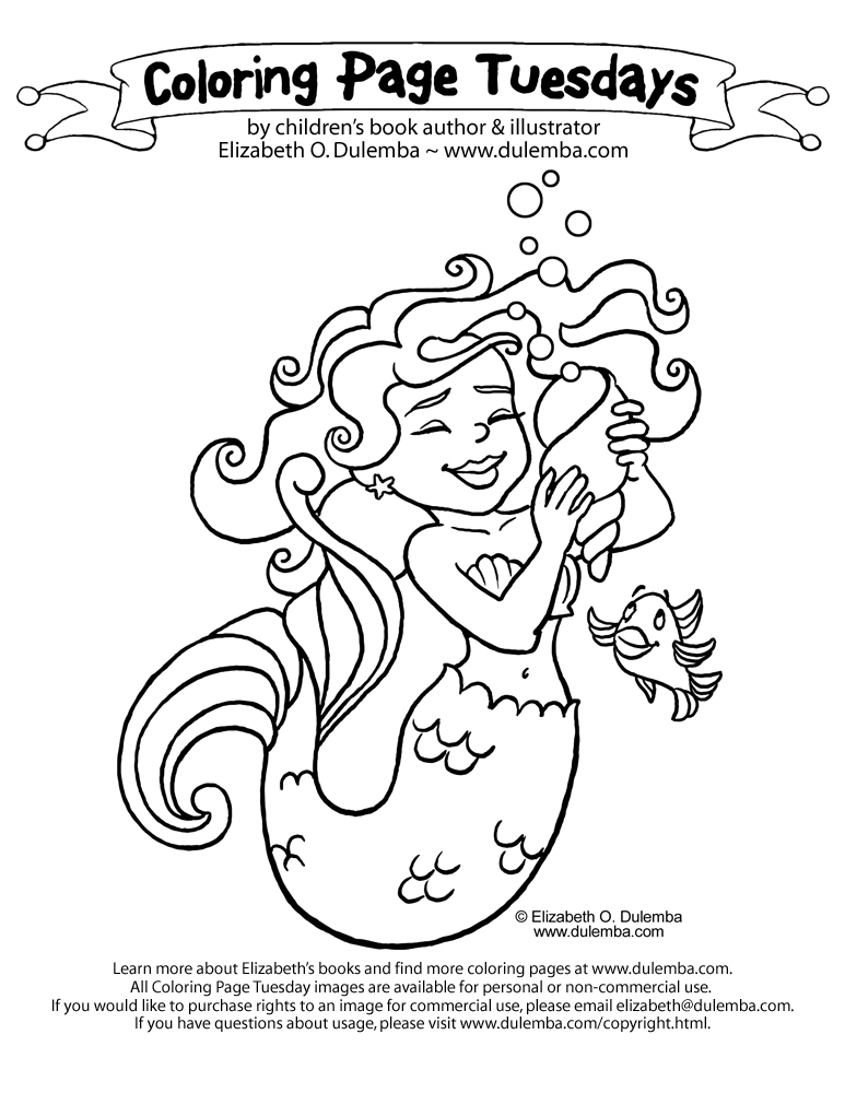 dulemba Coloring Page Tuesday - Mermaid