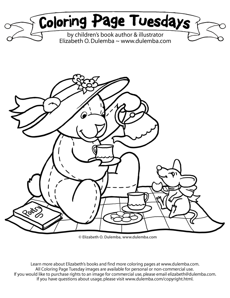 Teddy bears picnic colouring page Perfect for asking who and where - copy coloring pages of school buildings