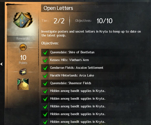 GW2 Open Letters Current Events Guide - Dulfy