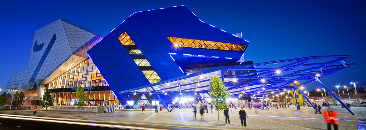Walan Perth Arena | Our Powder Coat Colours Used By Perth Arena