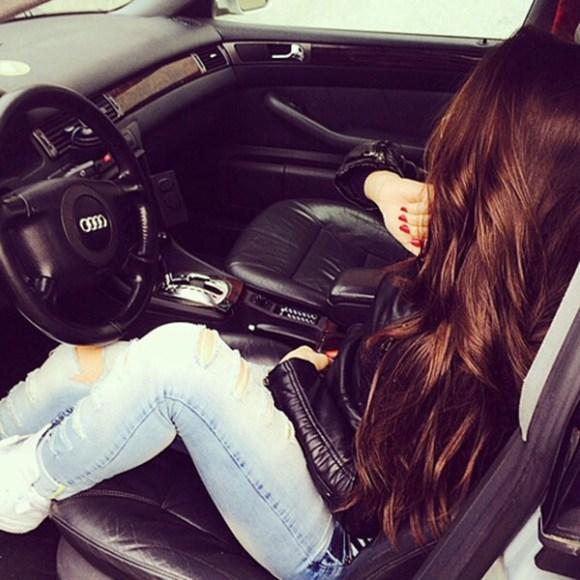 beautiful girl in car - photo #8