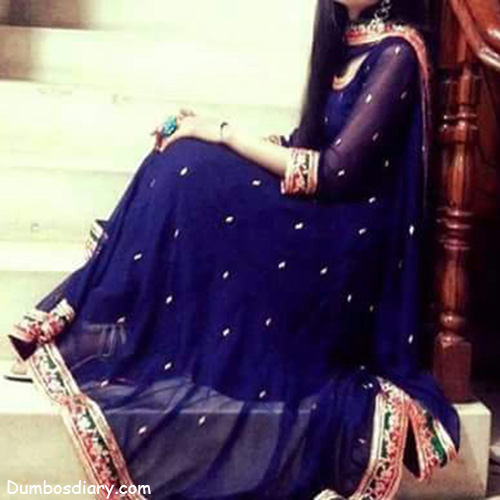 Cool And Stylish Wallpapers For Girls With Attitude Girl In Blue Frock Dp