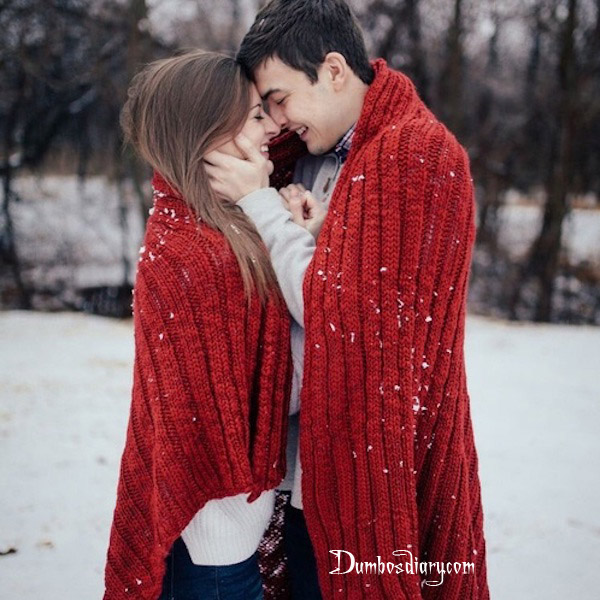 Download Sad Wallpapers With Beautiful Quotes Couple In Red In Snow