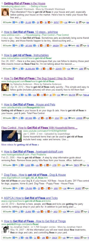 post EMD update Google SERP - Getting Rid of Fleas - Dumb Passive Income