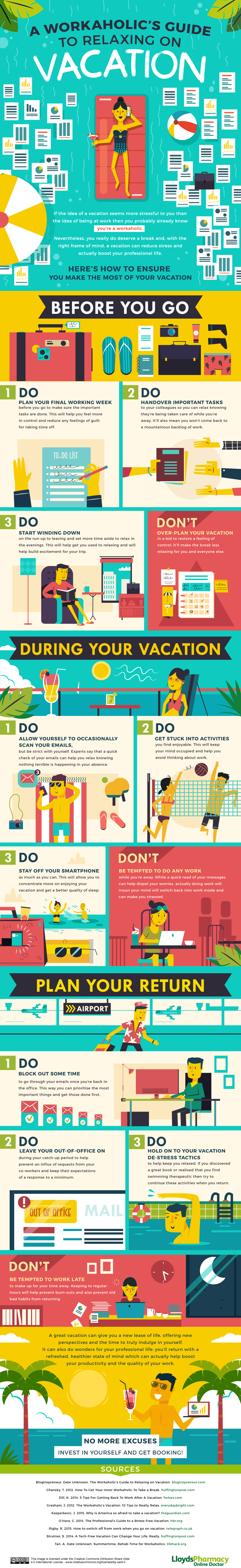 A Workaholics Guide to Relaxing on Vacation