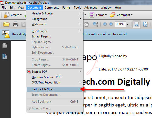 How to Reduce PDF File Size in Adobe Acrobat - DummyTech