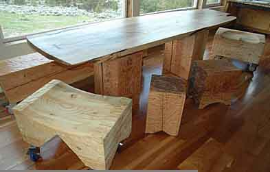 Custom Dining Room Tables Live Natural Edge Wood Slabs