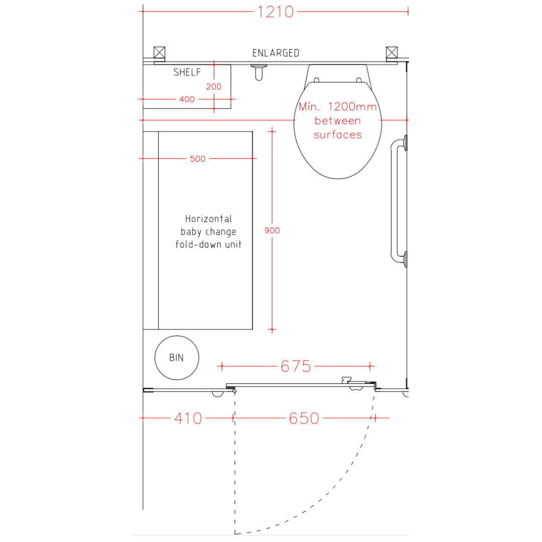 Wc Plan Minimum Space For Toilet