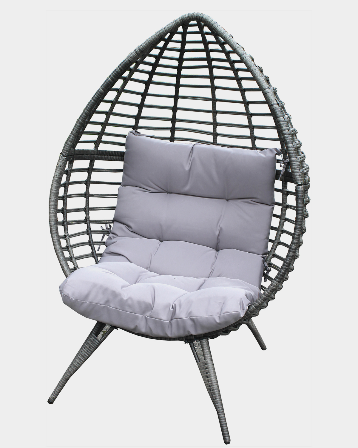 Dunnes Stores Grey Rattan Pod Chair