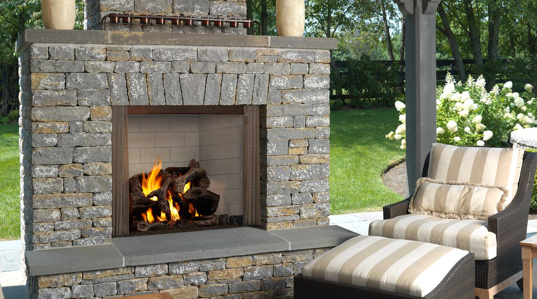 Majestic Outdoor Fireplace Wood Fireplaces Dunrite Chimney Centereach New York
