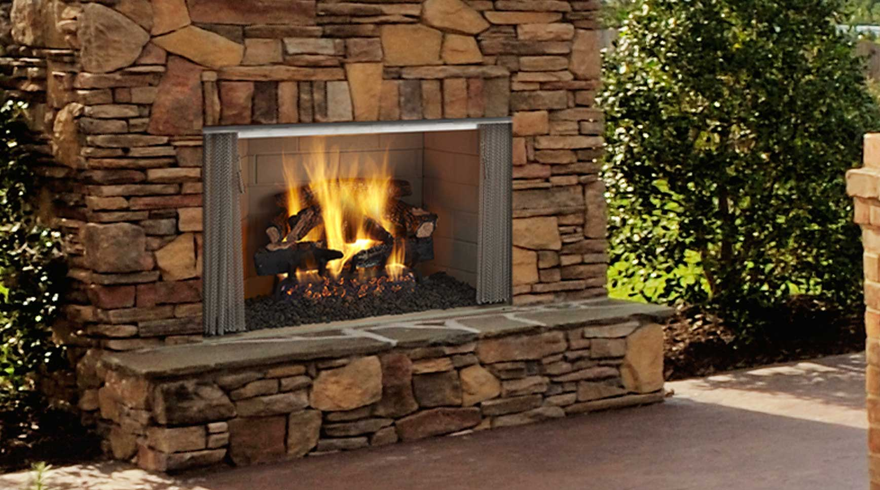 Majestic Outdoor Fireplace Villawood Wood Burning Fireplace