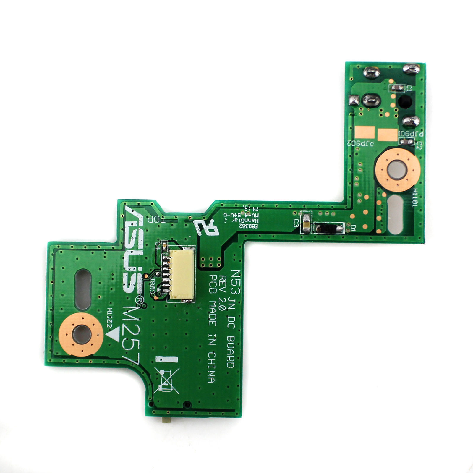 Power Board With Switches Asus N53jq Sx226v Dc Jack Soket Switch Power Board