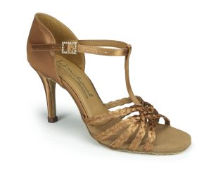 Neeve Plaited - Tan Satin