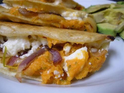 Sweet Potato Apple Cotija Quesadilla