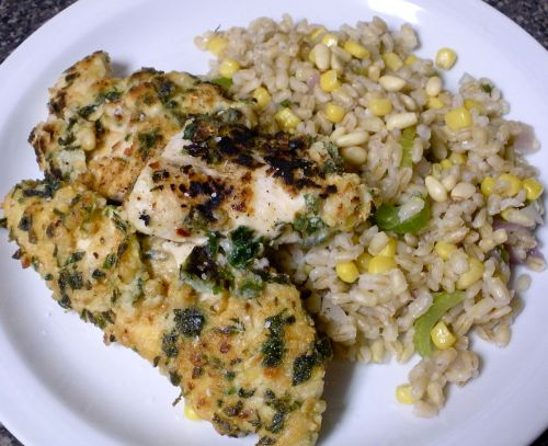 Herby Pine Nut Chicken with Pearl Barley-The Duo Dishes