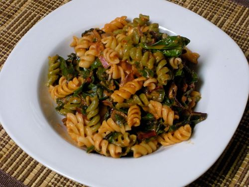 Spinach and Swiss Chard Pasta-Duo Dishes