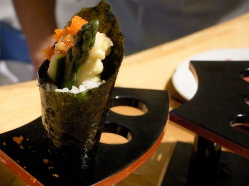 Tempura asparagus rolls-Duo Dishes