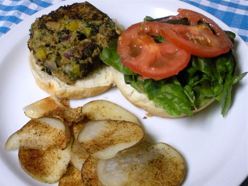 Black Bean Sweet Potato Burgers 2-Duo Dishes