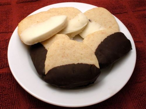 Chocolate Dipped Shortbread-Duo Dishes