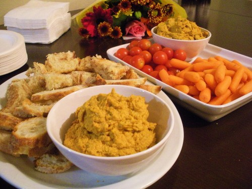 Pumpkin seed hummus-Duo Dishes