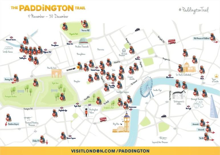 mapa-paddington-trail-mis-szlak-londyn-visitlondon-atrakcje-dla-dzieci-ksiazki