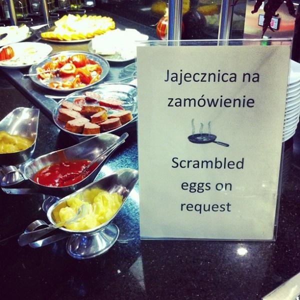 Jajecznica na zamówienie