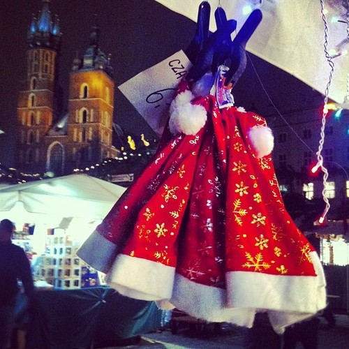 Rynek w Krakowie świąteczny jarmark Bożonarodzeniowy