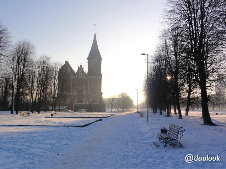 park-zima-rosja-krolewiec-katedra-atrakcje