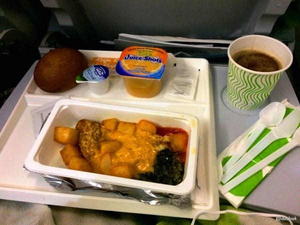 Śniadanie w samolocie Finnair Chiny