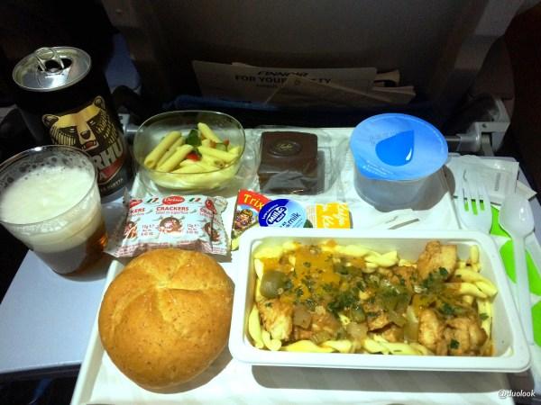 jedzenie-finnair-lot-chiny-pekin-kolacja