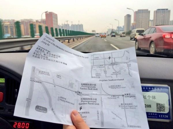 mapa pekinu atrakcje podróże-taksówką