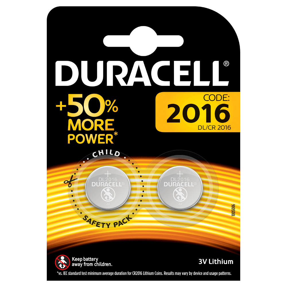 3v Batterie Specialty 2016 Lithium Coins Duracell