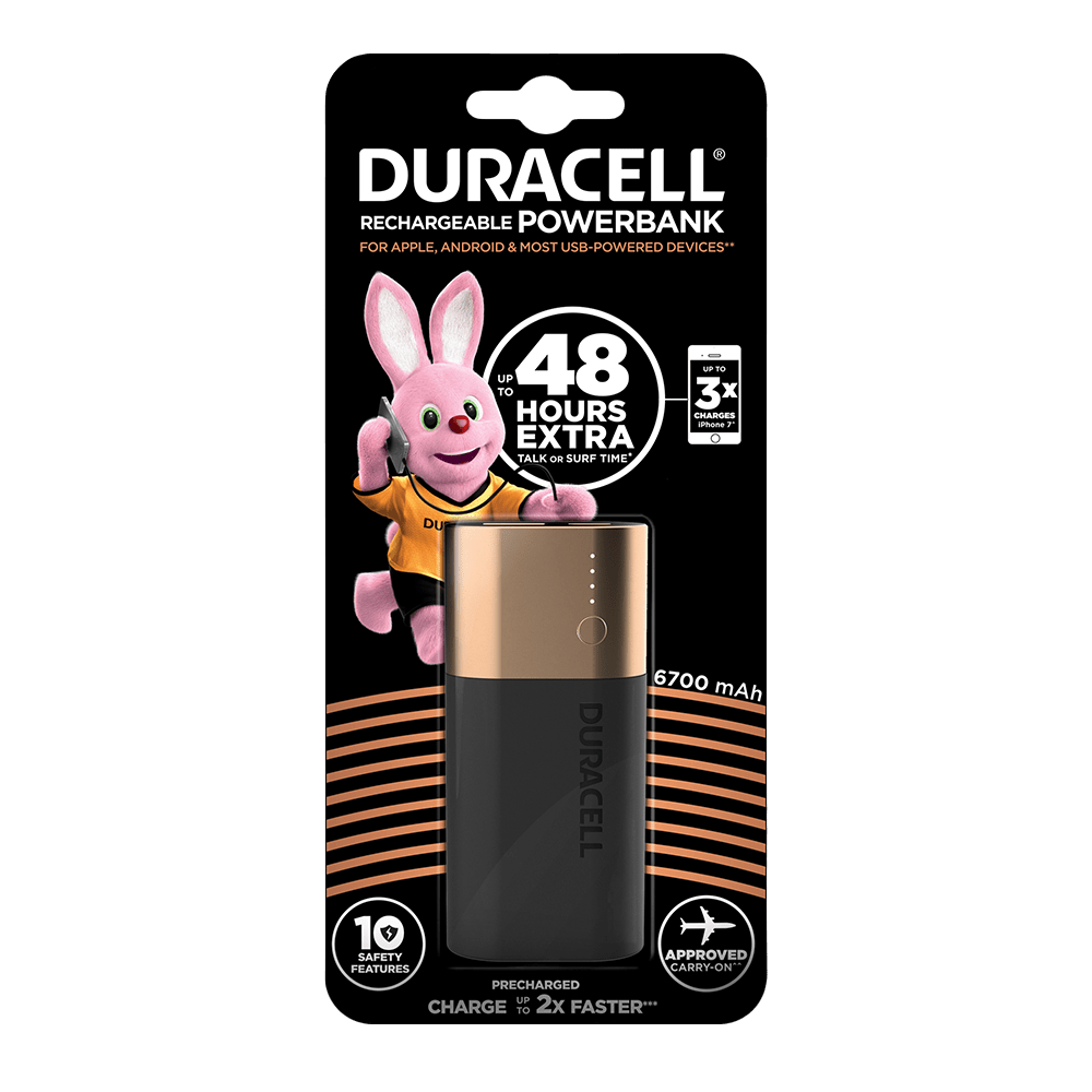 Powerbank Preis Duracell Powerbank 6700 Mah Charger For Smartphones Power Banks
