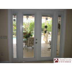 Small Crop Of French Doors With Blinds