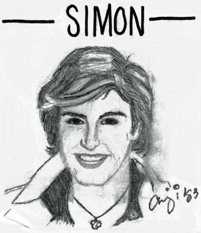 Drawing of Simon