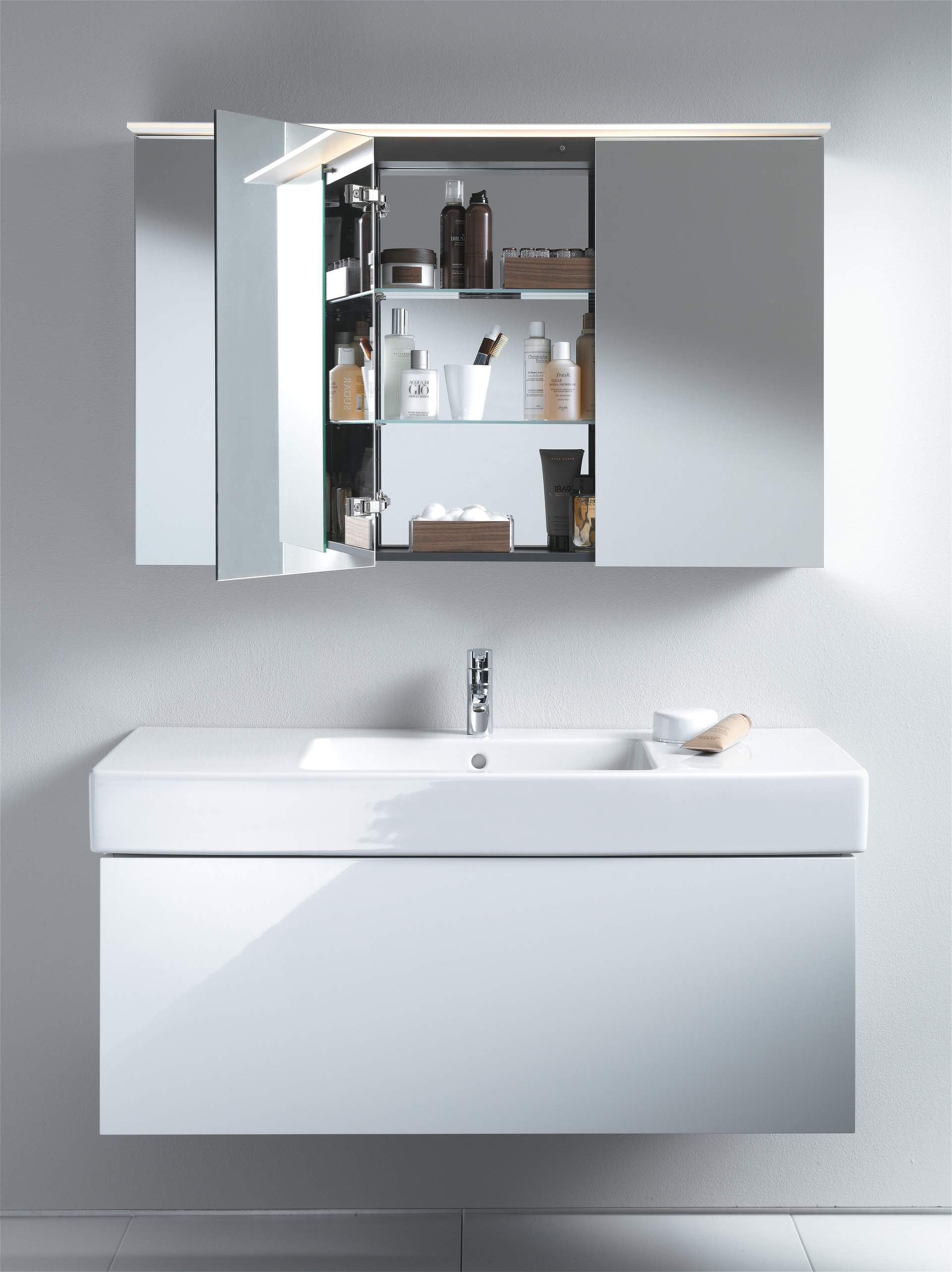 Recessed Shaving Cabinets Mirror Cabinets And Mirrors With Lighting Duravit