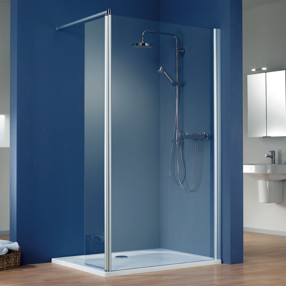 Walk In Dusche Mit Seitenteil Hsk Walk In Easy 1 Eckversion Schwenkbares Seitenteil