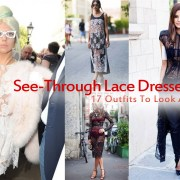 See-Through Lace Dress Outfits