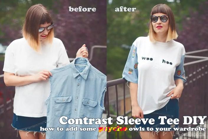 Contrast Sleeve DIY
