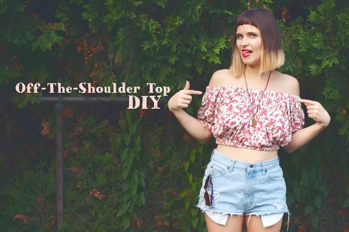 Off-The-Shoulder Top DIY