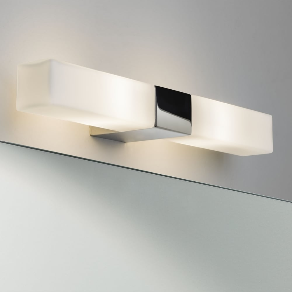 Bathroom Mirror Wall Lights Astro Lights Padova Square Bathroom Mirror Wall Light In Polished Chrome