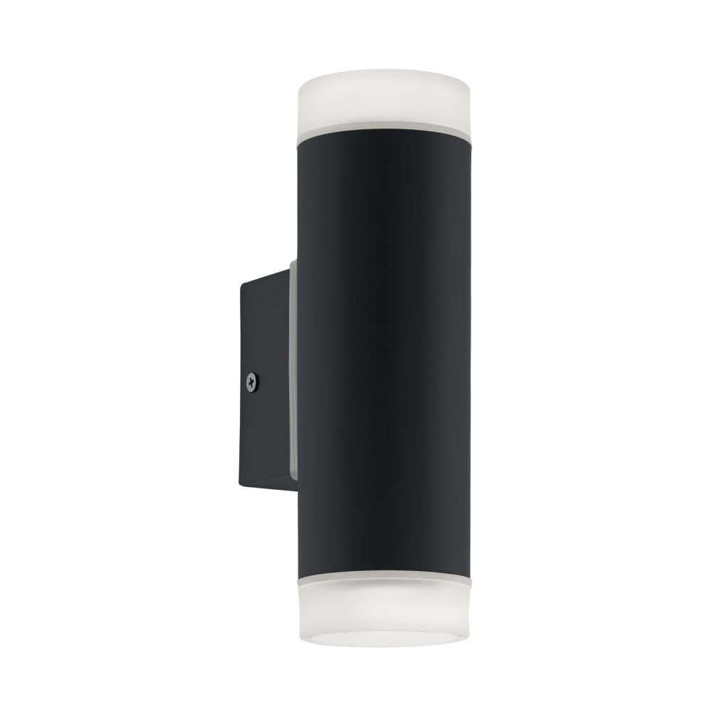 Eglo Riga Led Outdoor Wall Light Riga Led Exterior Up And Down Wall Light In Black