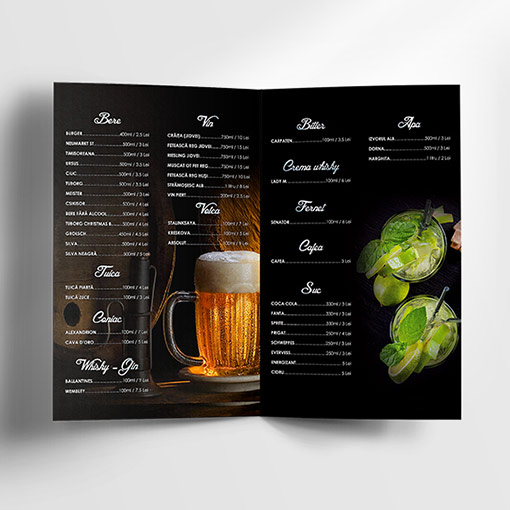 Free Drinks Menu Template - Dussk Design - Free Drink Menu Template