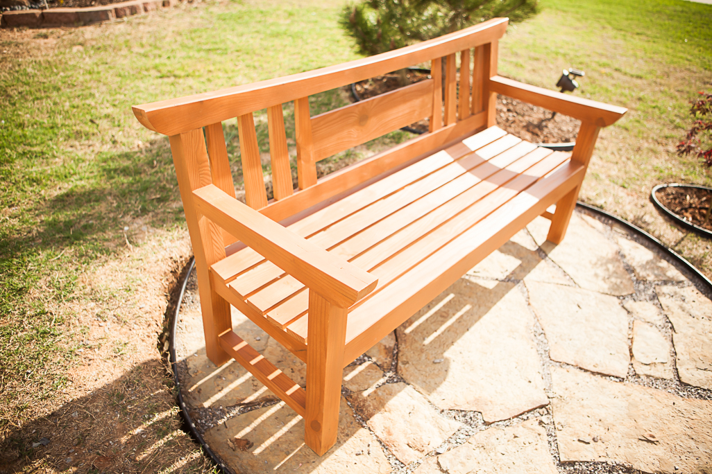 Japanese Garden Bench Completed!