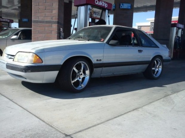 1991 Foxbody Mustang LX Light Blue Cobra R Rims sexy arizona cars