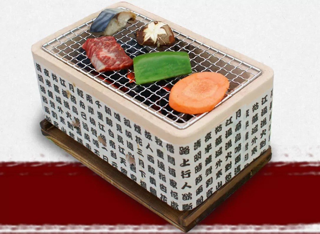 Pizzasteen Oven Newest Mini Japanese Tabletop Yakiniku Oven Ceramic Bbq Grill