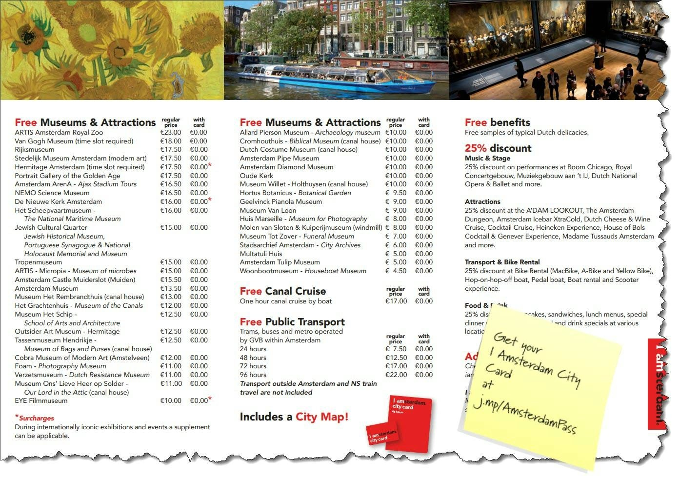Note Card Cafe Coupon The I Amsterdam City Card Worth It Dutchamsterdam