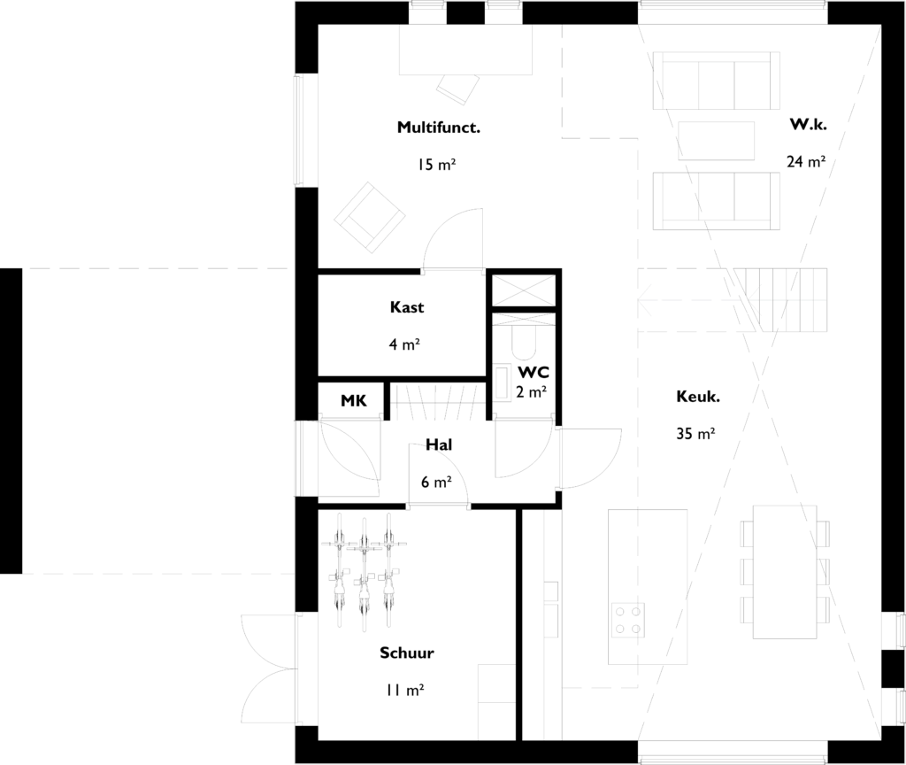 Schuurwoning Plattegrond Schuurwoning Brabant Dutch Design Homes