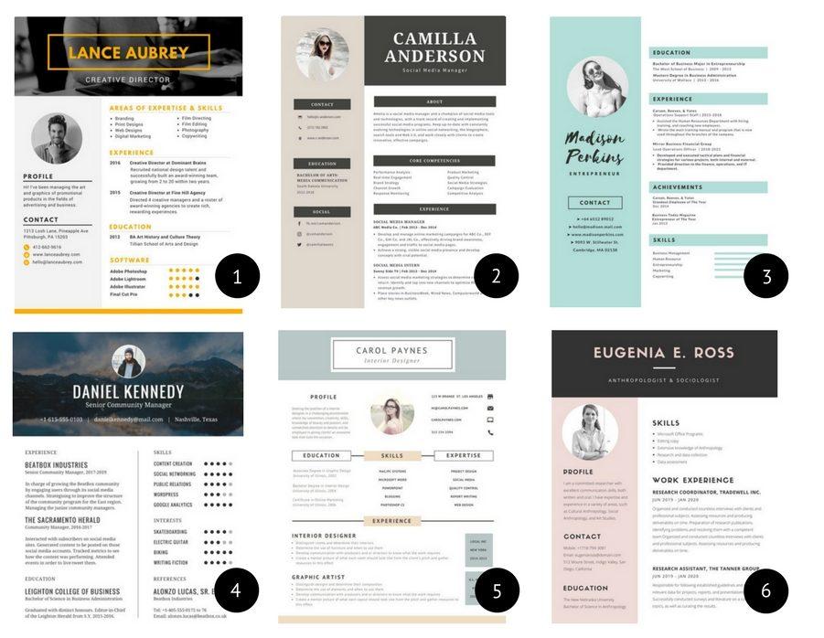 Tyylikkäät ja helposti muokattavat CV-pohjat - Duunitori
